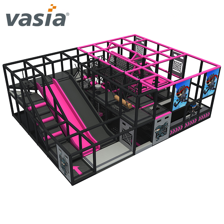 Hot popular children ninja school indoor soft playground for sale